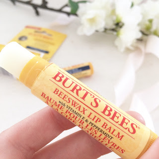 Lip balm review, Burts bees, recommended, natural, vitamin E, review, beauty, skin care, lip care, peppermint
