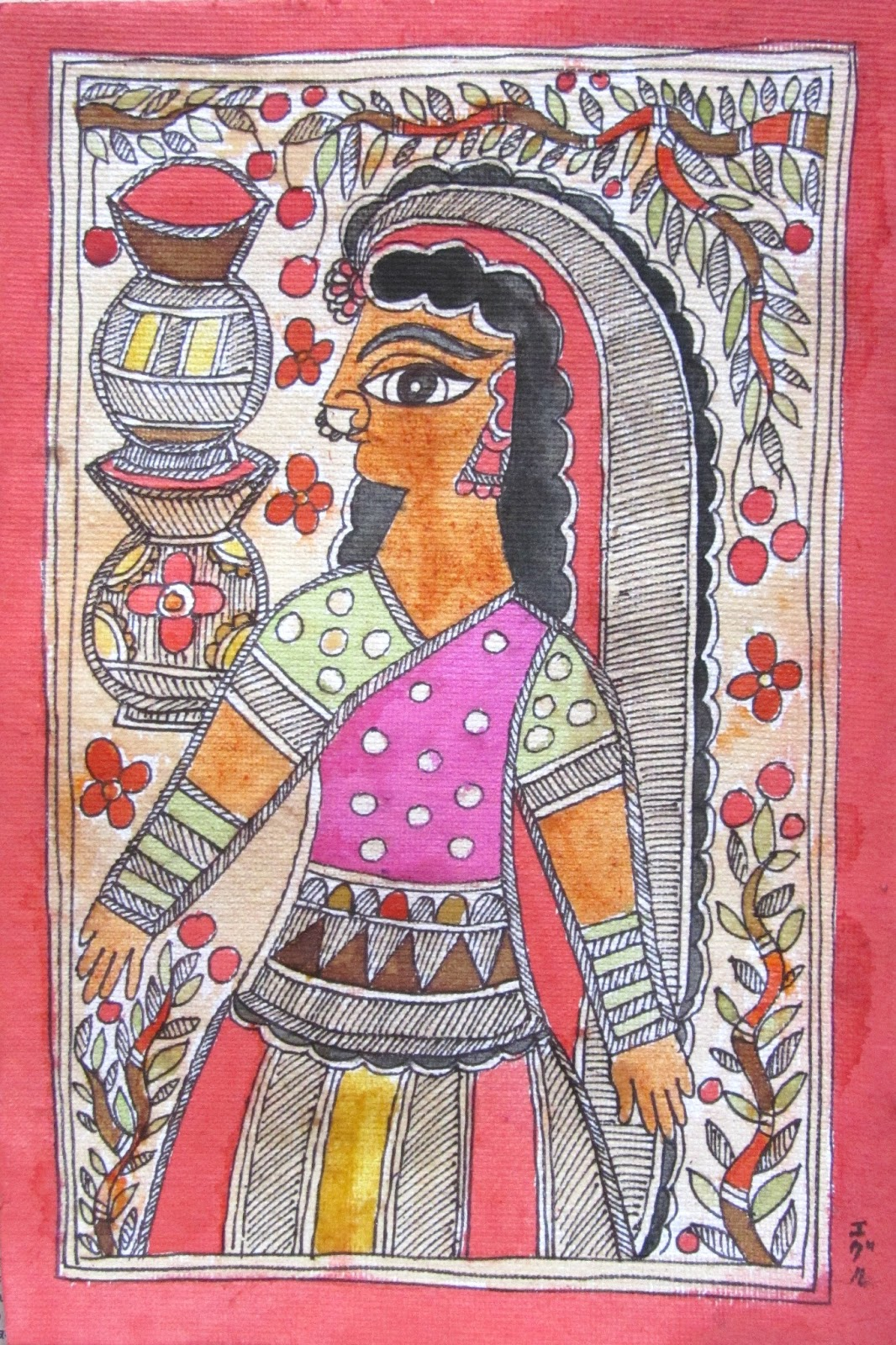 Crazylassi S Madhubani Art Practice And Research Blog