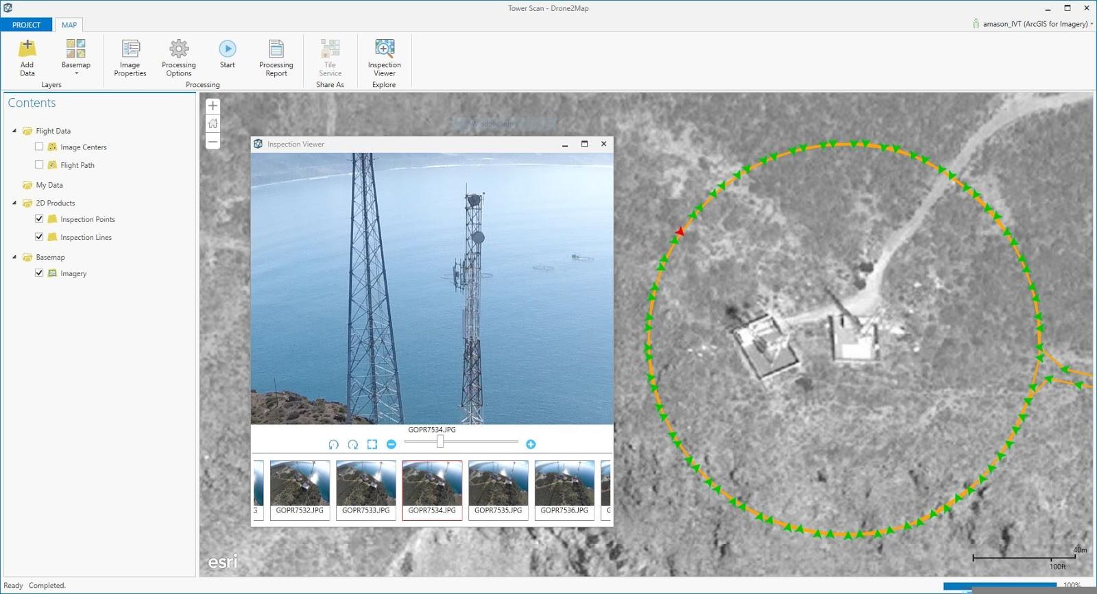 Drone2map para arcgis ponga su drone a trabajar inspeccin torre de comunicacin con drone2map para arcgis sciox Gallery