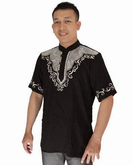 Contoh desain baju muslim terbaru pria modis
