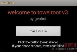Root dengan aplikasi Towelroot