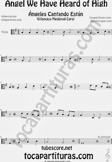 Partitura de para Viola Villancico Christmas Carol Sheet Music for Viola Music Scores