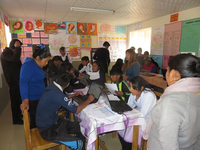 Nach dem sportlichen Teil folgte für die Colegios der geistige Teil Bundesjugendspiele in Mathe, Chemie etc. auf Nationalniveau.