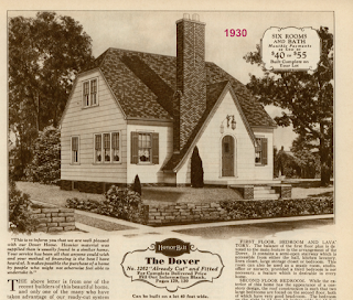 sears dover with straight line entry gable early version
