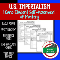 American History I Cans, Student Self-Assessment of Mastery, Imperialism