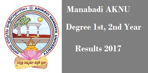 manabadi aknu degree results 2017 1st, 2nd year