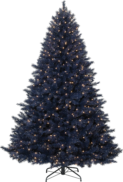 navy blue Christmas tree