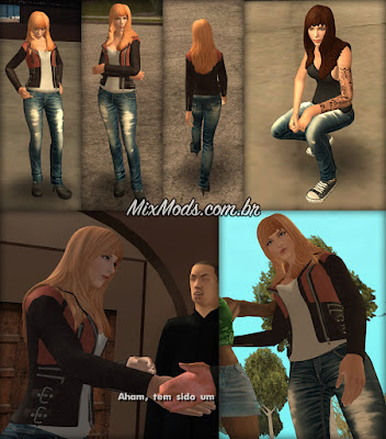 gta sa san mod female player skin feminina mulher anims cutscene