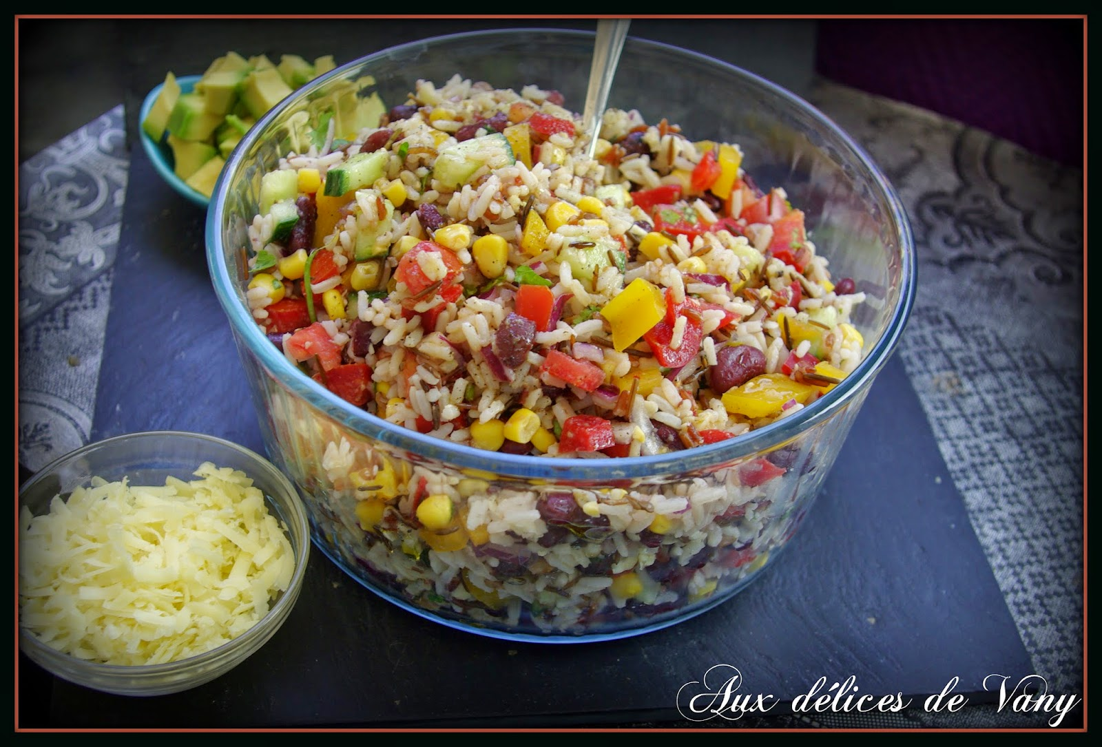 salade tex mex aux 3 riz et haricots rouges v g tarien et sans gluten. Black Bedroom Furniture Sets. Home Design Ideas
