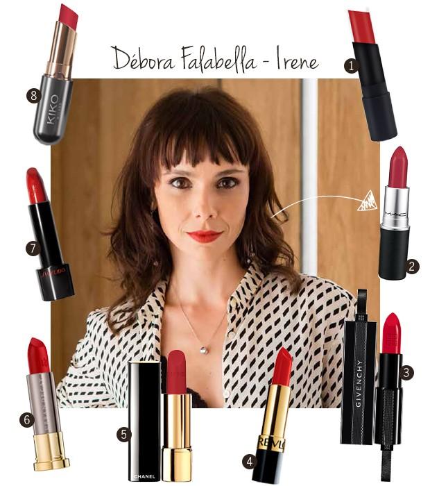 Conheça o batom da Débora Falabella, a Irene em A Força do Querer e os dupes