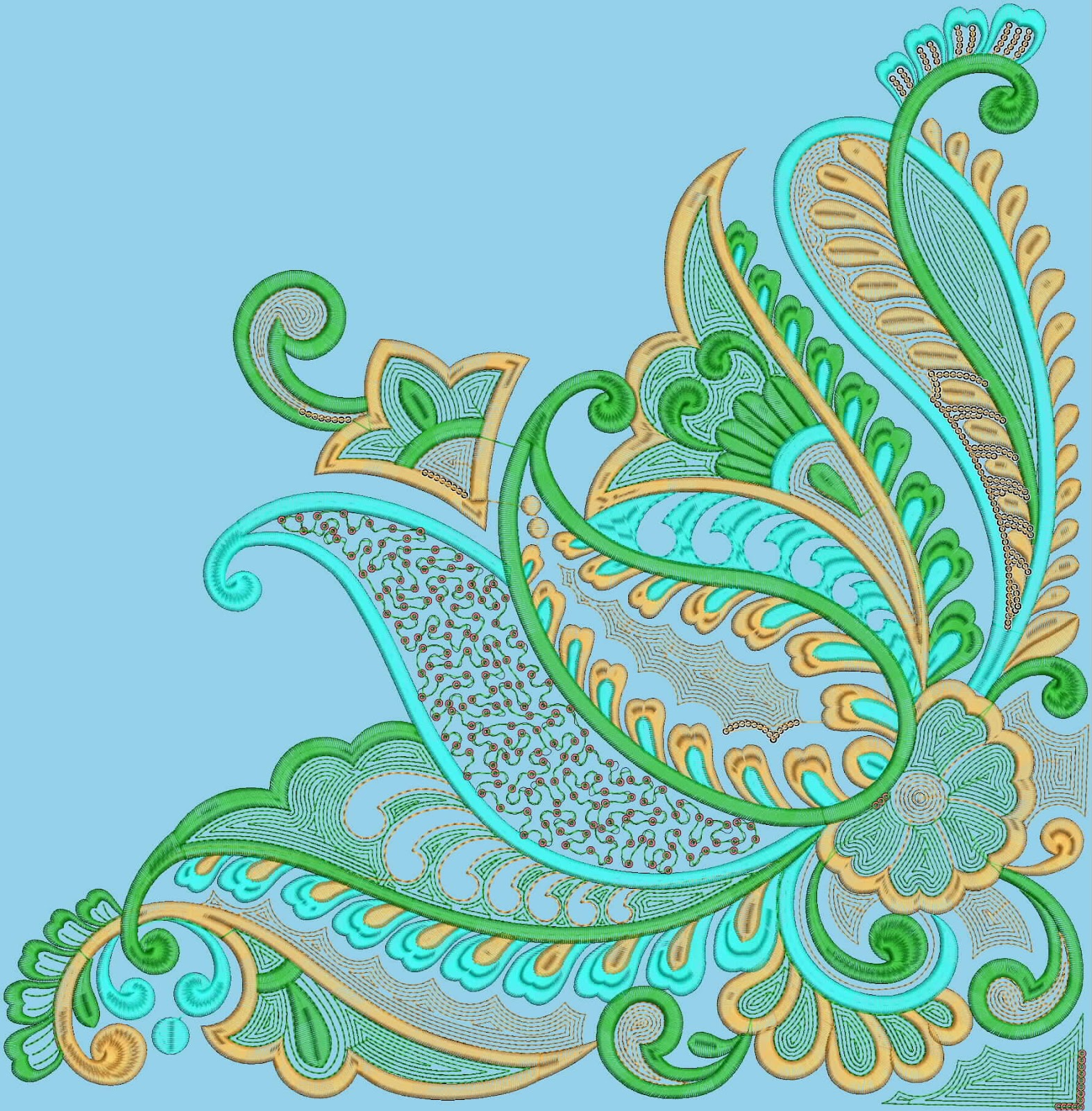 Embdesigntube: Embroidery Designs for Tablecloth