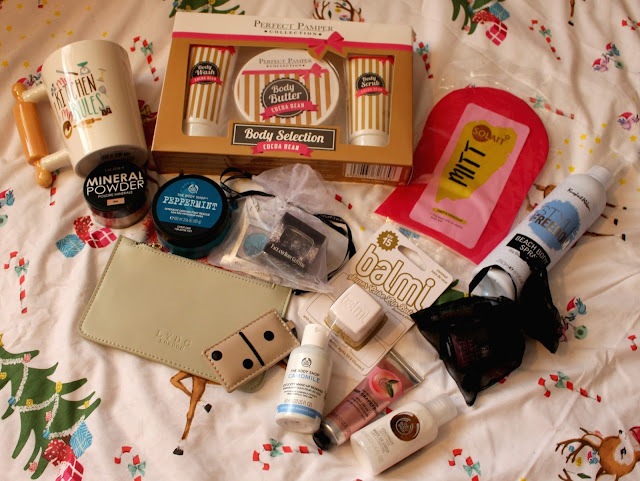 christmas giveaway, the body shop, balmi, gosh, perfect pamper, superdrug