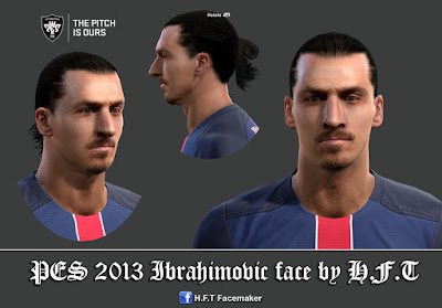 PES 2013 Ibrahimovic face by H.F.T