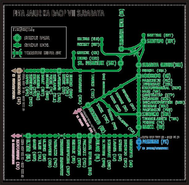 Peta Malang: STASIUN KERETA API: DAOP VIII