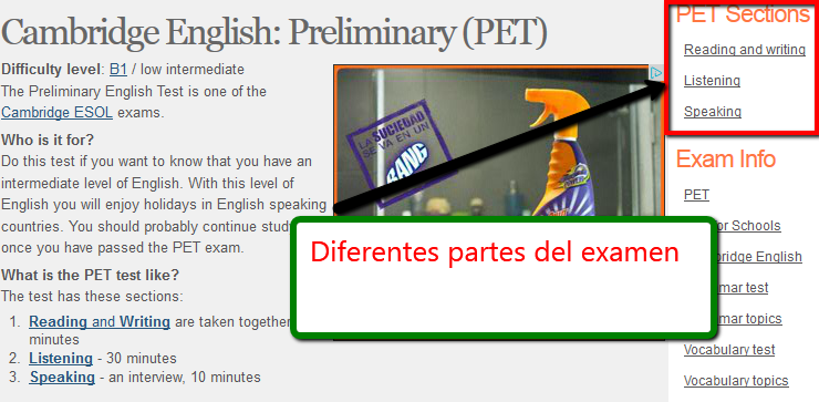 http://www.examenglish.com/PET/index.html