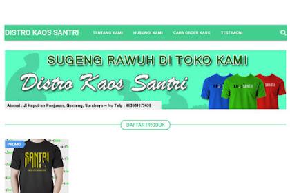 Toko Online Kaos Santri