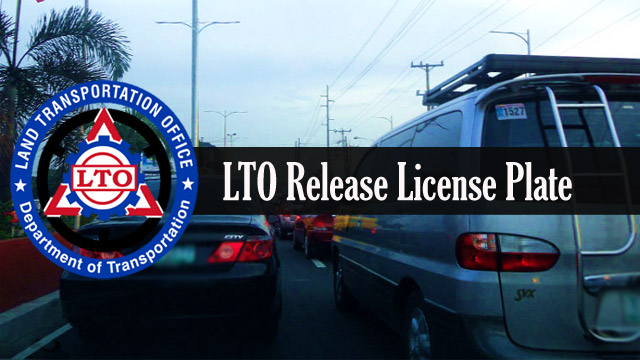 LTO Finally Distribute License Plates
