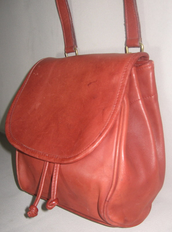 Vintage Rust Leather Coach Purse