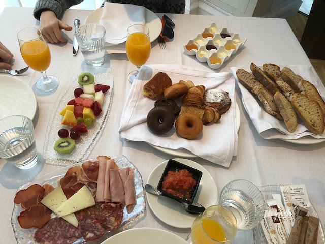 Nuestro desayuno en el hotel