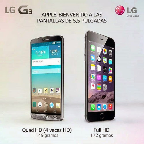 LG G 3 - IPHONE 6 PLUS
