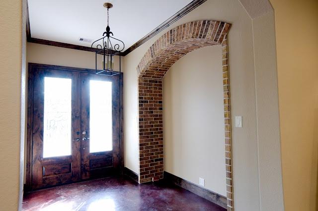 Brick trim wall