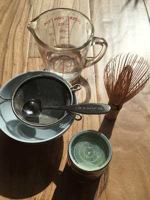 Utensils for making matcha at home