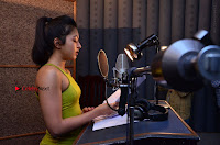Actress Catherine Tresa Pos during Self Dubbing for Gautham Nanda Movie  0038.JPG