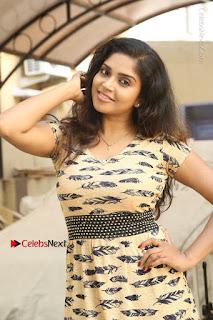 Telugu Actress Karunya Chowdary Stills in Short Dress at ATM Not Working Press Meet  0017.jpg