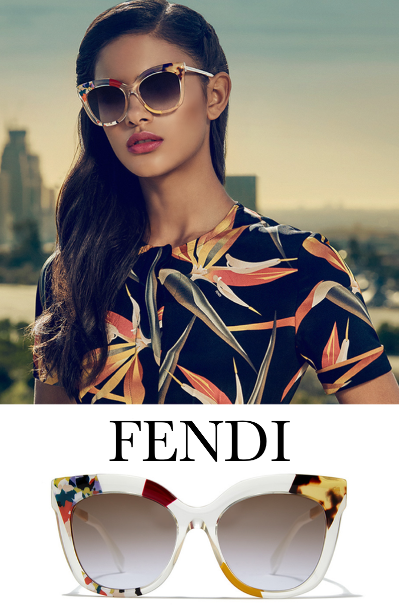 Fendi 53MM Oversized Cat's-Eye Sunglasses