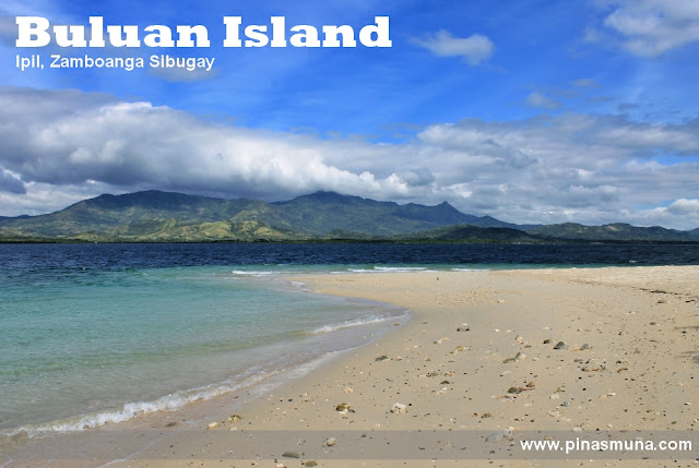 white sand beach of Buluan Island in Zamboanga Sibugay