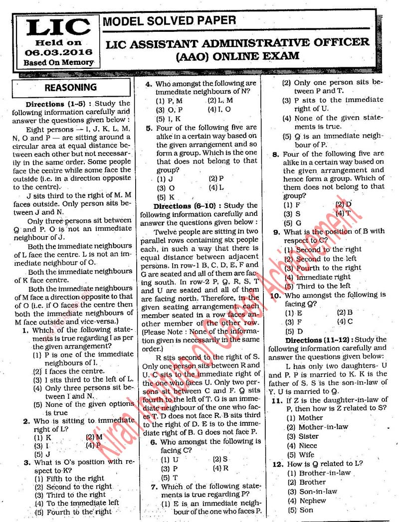 In pdf aao previous hindi papers lic