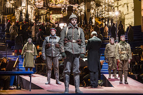 Kevin Puts: Silent Night - Members of the Chorus of Opera North as Scottish and German soldiers - Opera North (Photo © Tristram Kenton)