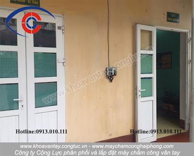 Hoàn thành lắp đặt máy chấm công vân tay tại Xí nghiệp Vân Đồn – Bãi Cháy – Hạ Long – Quảng Ninh.