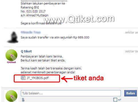 beli tiket pesawat via facebook