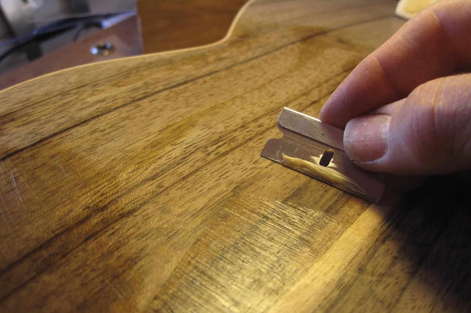 Pore Filling With Aqua Coat Wood Grain Filler