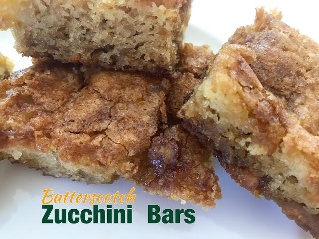 Butterscotch zucchini bars