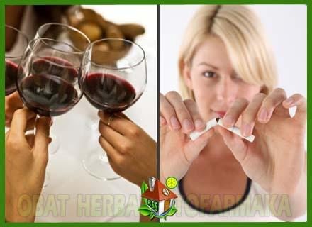 cara hidup sehat, berhenti merokok, jangan minum alkohol