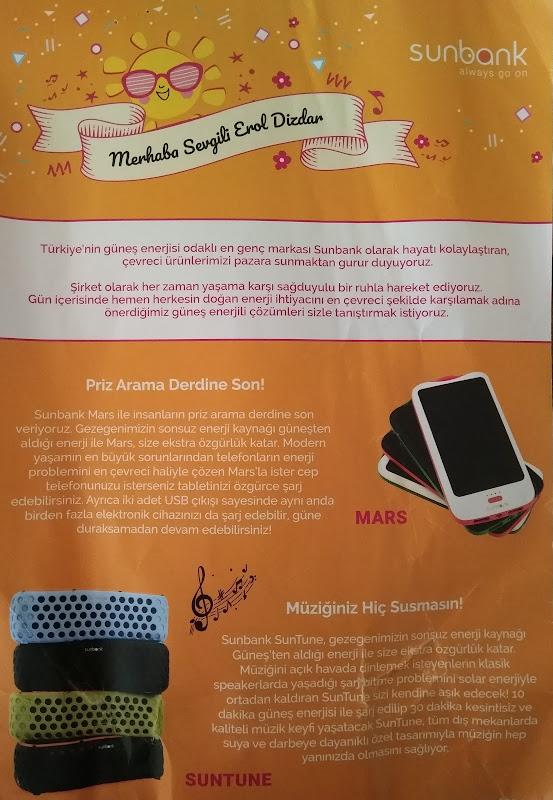 Güneş Enerjili Kablosuz Hoparlör: Sunbank SunTune