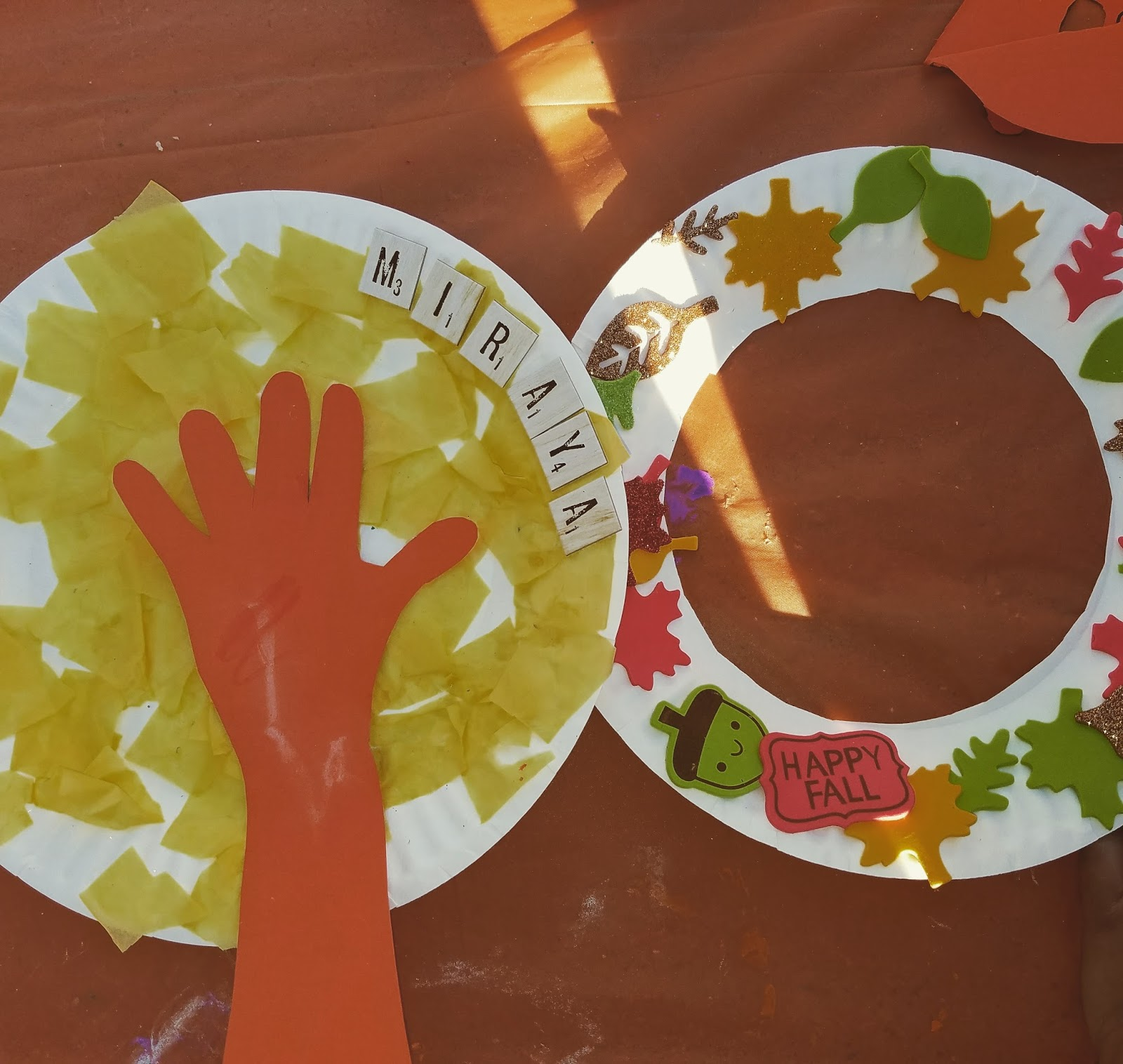 Paper plates are a great craft supply so much you could do with it! This time we created a fall tree and we incooperated a simple hand ... & ReloMom: Fall Crafts For Kids