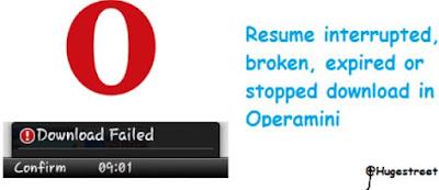 Opera Mini Download Fail And Solution