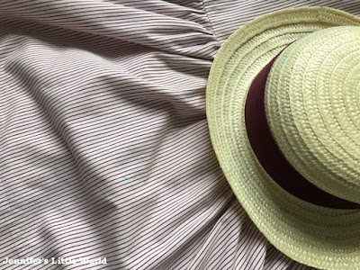 Summer dress and straw boater