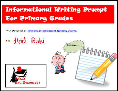 Free informational writing prompt to help primary students through the writing process - from Raki's Rad Resources.