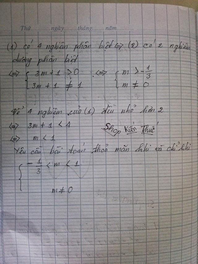 bài tập mẫu khảo sát hàm số trùng phương trang 3