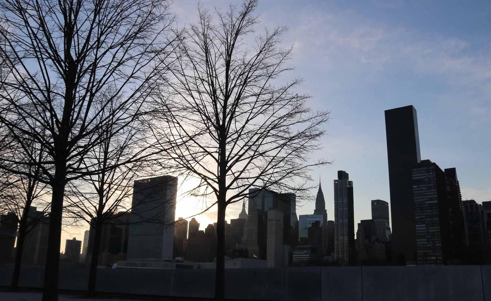 Näkymä Manhattanille Roosevelt Islandilta