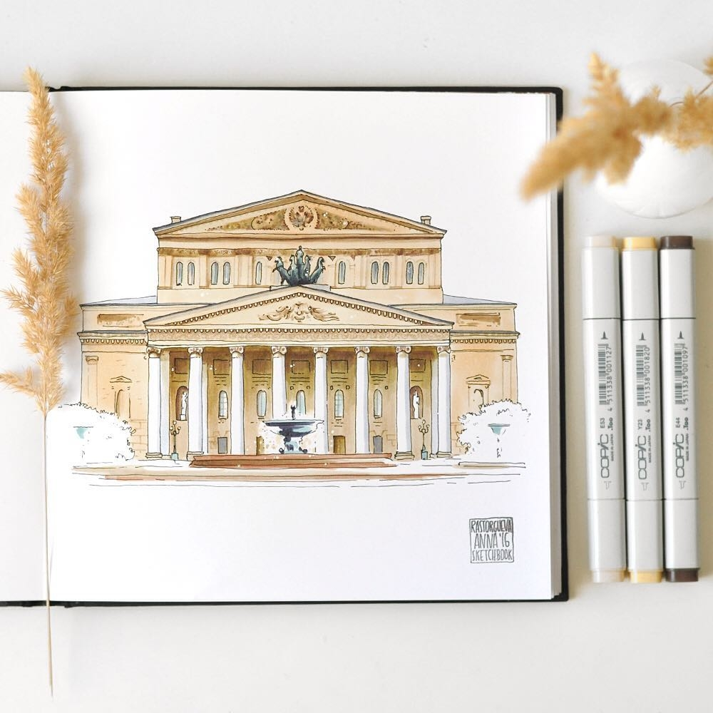 09-The-Bolshoi-Theatre-Anna-Rastorgueva-Architecture-Travel-Journal-Urban-Sketches-Illustrations-www-designstack-co
