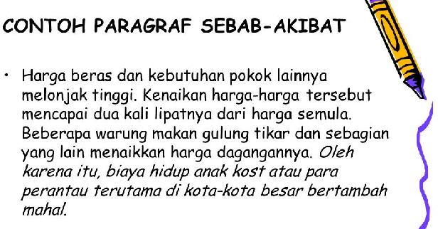 Paragraf Sebab Akibat Deddybindosmut