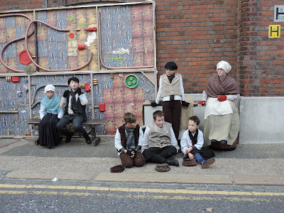 Portsmouth historic dockyard festival of christmas actors