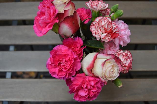 pink flowers, resolutions, goals