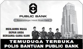 Polis Bantuan Public Bank Kerja Kosong