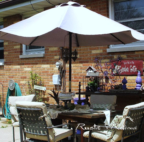 Dining on the patio in summertime